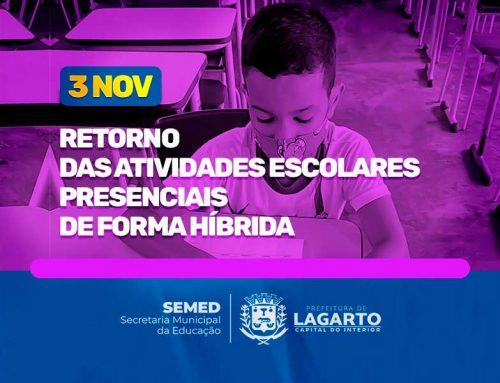 Atenção pais ou responsáveis: Prefeitura de Lagarto prepara retorno do ensino presencial na Rede Publica Municipal
